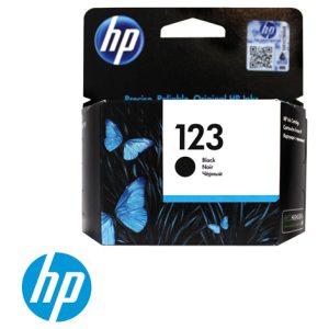 ראש דיו מקורי שחור HP 123 F6V17AE