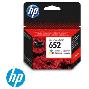 ראש דיו מקורי צבעוני HP 652 F6V24AE