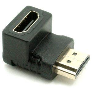 מתאם HDMI נקבה לחיבור HDMI זכר 90 מעלות