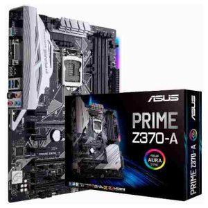 לוח אם Asus Prime Z370-A LGA1151v2, Intel Z370, DDR4, 3xPCI-E, DVI, HDMI, DP