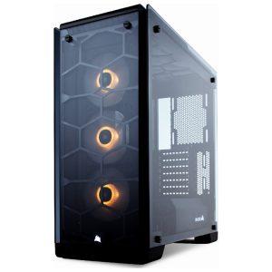 מארז ללא ספק Corsair Crystal 570X RGB ATX Mid-Tower צבע שחור
