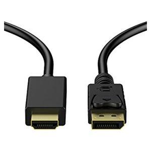 כבל מחיבור DisplayPort לחיבור HDMI באורך 1.8 מטרים Protec DM137