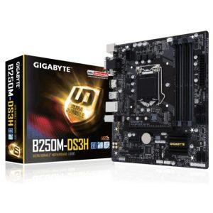 לוח אם Gigabyte GA-B250M-DS3H LGA1151, Intel B250, DDR4, PCI-E, VGA, DVI, HDMI