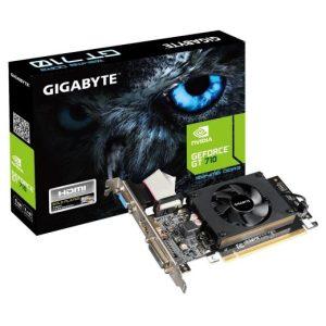 כרטיס מסך Gigabyte GT710 1GB DDR3 VGA DVI HDMI PCI-E