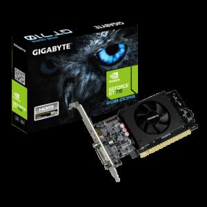 כרטיס מסך Gigabyte GT710 2GB DDR3 VGA DVI HDMI PCI-E