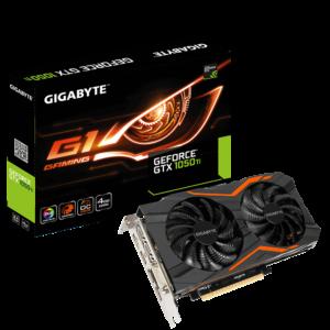 כרטיס מסך Gigabyte GTX 1050 Ti G1 Gaming OC 4GB DVI 3xHDMI DP PCI-E