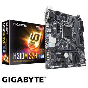 לוח אם Gigabyte H310M S2H LGA1151v2, Intel H310, DDR4, PCI-E, VGA, DVI, HDMI