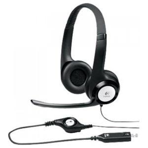 אוזניות למחשב עם מיקרופון Logitech USB H340