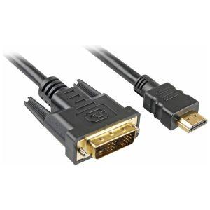 כבל מחיבור DVI לחיבור HDMI באורך 1.8 מטרים