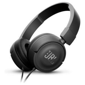 אוזניות קשת עם מיקרופון JBL T450 - שחור