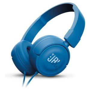 אוזניות קשת עם מיקרופון JBL T450 - כחול