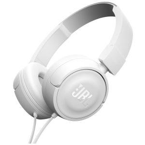 אוזניות קשת עם מיקרופון JBL T450 - לבן