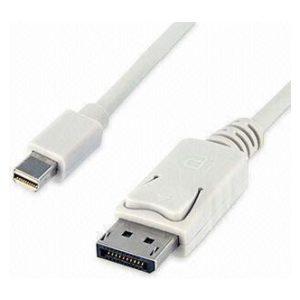כבל Mini DisplayPort זכר לחיבור DisplayPort זכר באורך 1.8 מטר