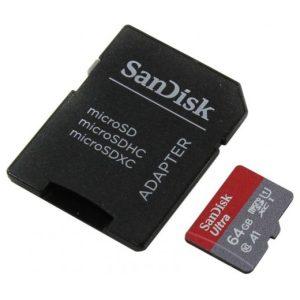 כרטיס זיכרון SanDisk Ultra SDSQUAR-064G - נפח 64GB