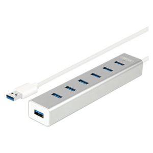 מפצל USB3.0 ל-7 כניסות עם ספק כוח, דגם Unitek Y-3090