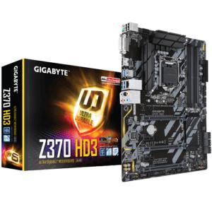 לוח אם Gigabyte Z370 HD3 LGA1151v2, Intel Z370, DDR4, 3xPCI-E, DVI, HDMI