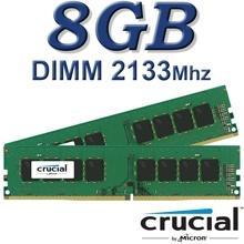 זיכרון למחשב Crucial DIMM 8GB DDR4 2133Mhz