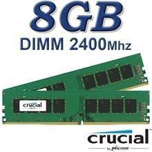 זיכרון למחשב Crucial DIMM 8GB DDR4 2400Mhz