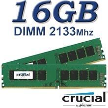 זיכרון למחשב Crucial DIMM 16GB DDR4 2133Mhz