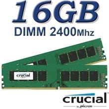 זיכרון למחשב Crucial DIMM 16GB DDR4 2400Mhz