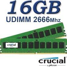 זיכרון למחשב Crucial DIMM 16GB DDR4 2666Mhz