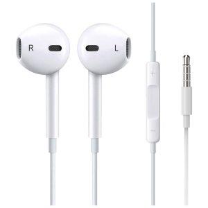 אוזניות מקוריות של Apple עם חיבור 3.5 מ''מ, בקר שליטה ומיקרופון