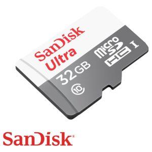 כרטיס זכרון SanDisk Ultra Micro SDHC 32GB SDSQUNS-032G-GN