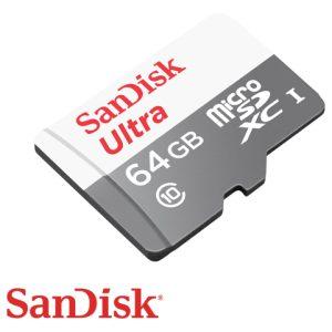 כרטיס זכרון SanDisk Ultra Micro SDXC 64GB SDSQUNS-064G
