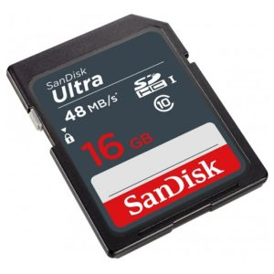כרטיס זכרון SanDisk Ultra SDHC 16GB SDSDUNB-016G-GN3IN