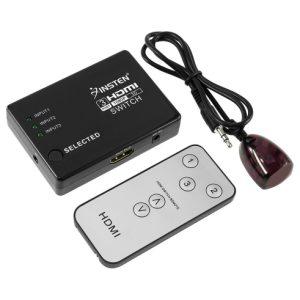 בורר / מפצל SWITCH HDMI שלוש כניסות ליציאה אחת עם שלט אלחוטי