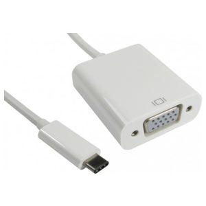 מתאם מחיבור USB 3.1 Type-C זכר לחיבור VGA נקבה
