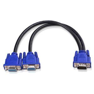 מפצל מחיבור VGA זכר ל-2 חיבורי VGA נקבה / Splitter VGA