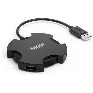 מפצל USB2.0 ל-4 כניסות USB2.0, דגם Unitek Y-2178